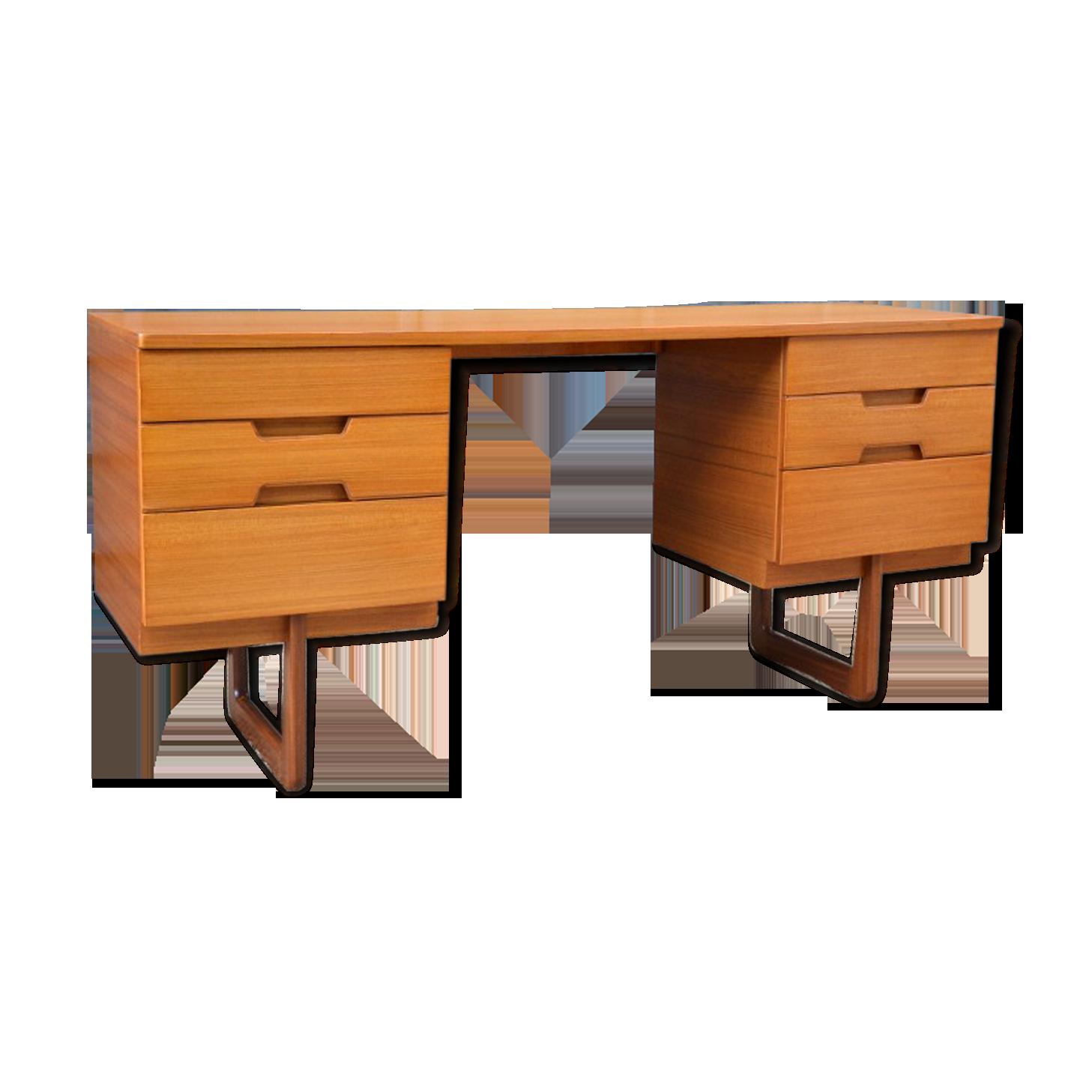Bureau en teck par uniflex wood wooden scandinavian thjf x