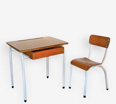 Chaise et table enfant vintage