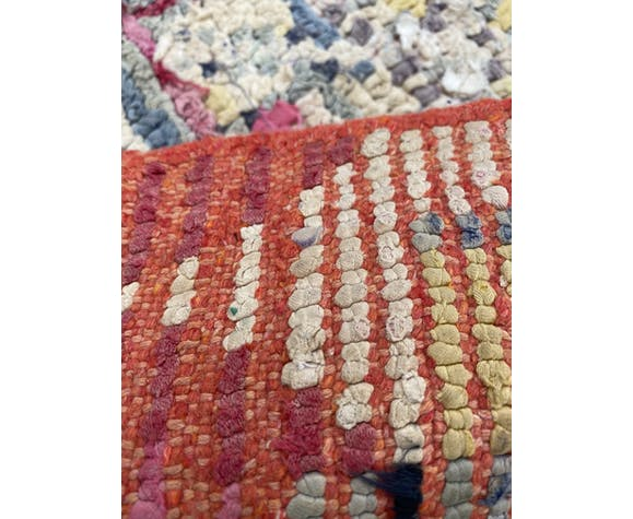 Tapis berbere boucherouite vintage 90x160 cm