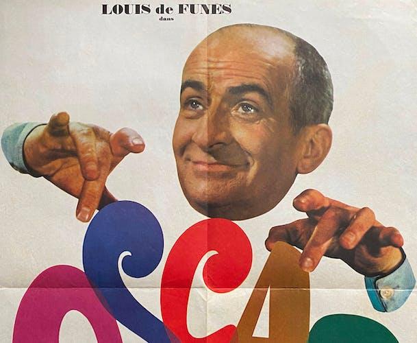 """Affiche cinéma """"Oscar"""" Louis de Funes 60x80cm 1967"""