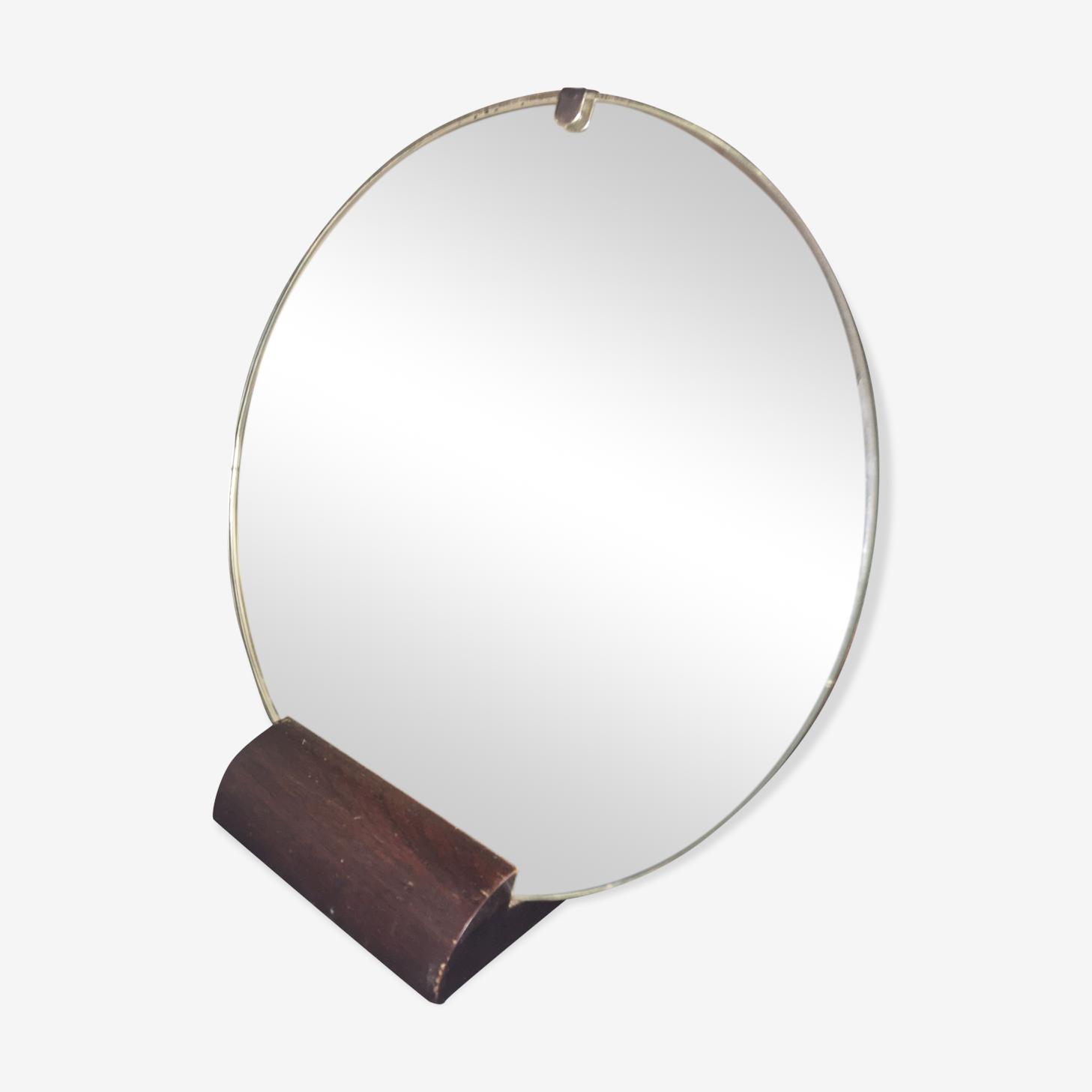 Miroir à poser art déco vintage 39x41cm