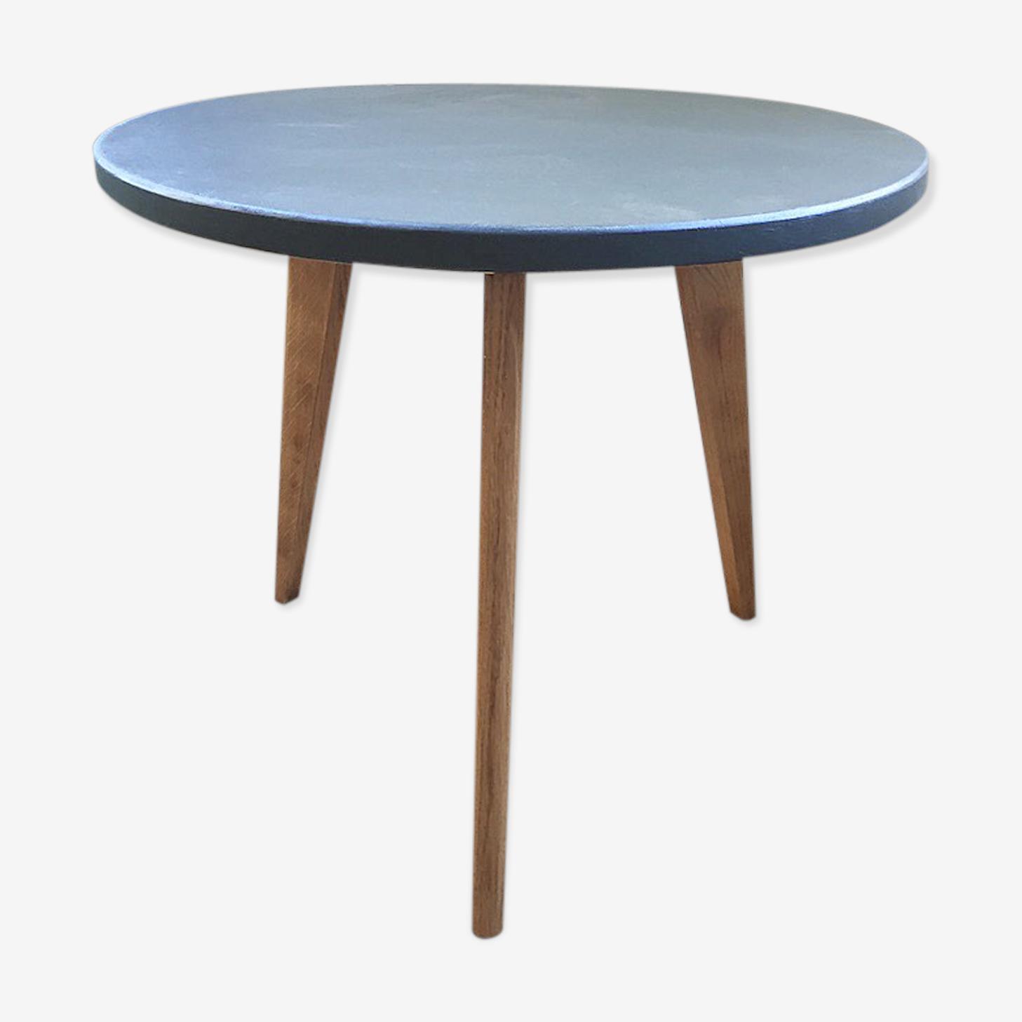 Table basse tripode verte