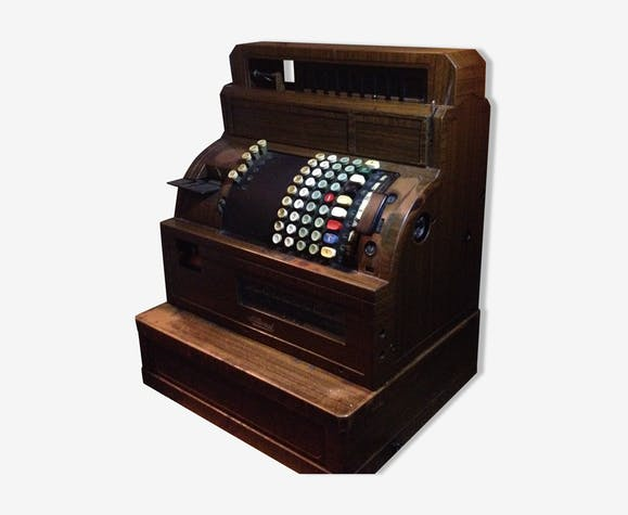 National Cash Cash Register Wood Wooden Vintage Vili9g2