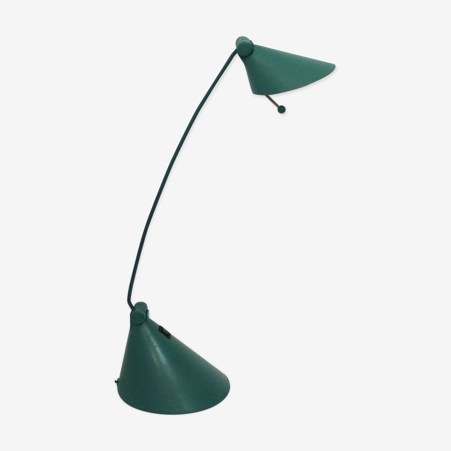 Lampe de bureau en métal mat vert