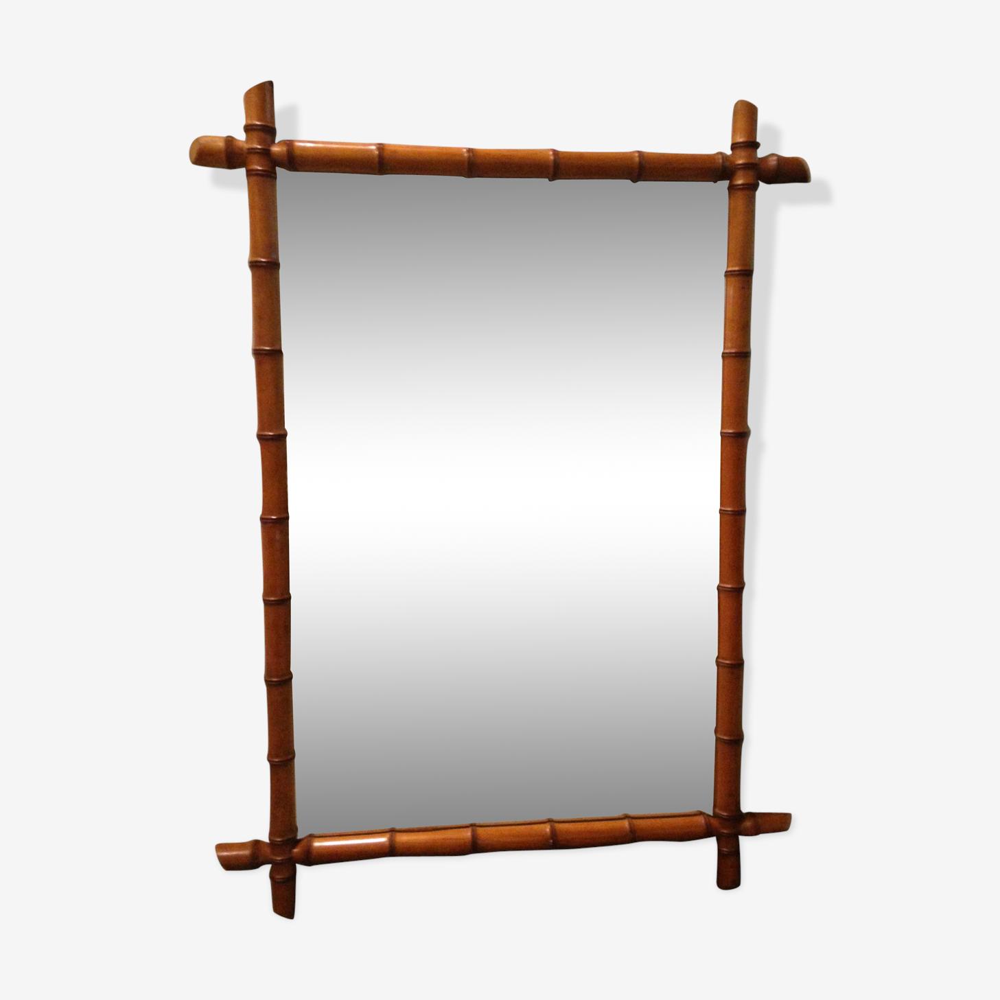 Miroir bambou ancien 100x80cm