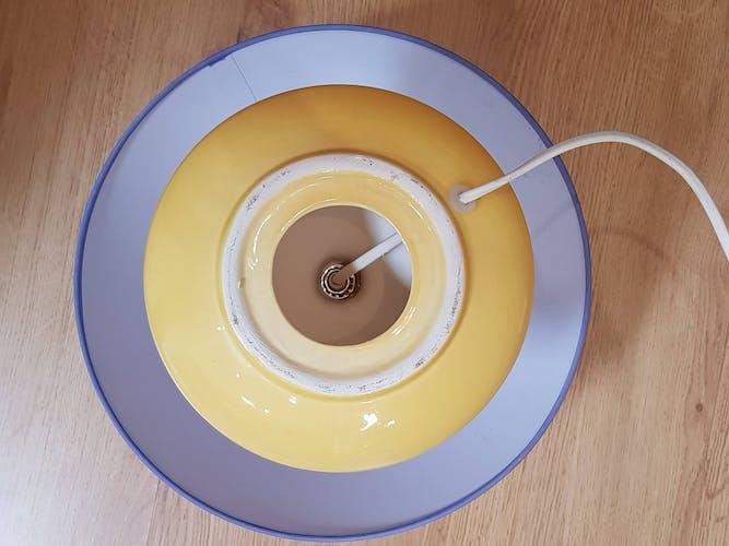 Yellow foot table lamp 1960