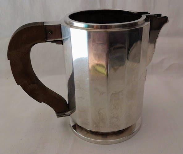 Service à café et thé en métal argenté art déco