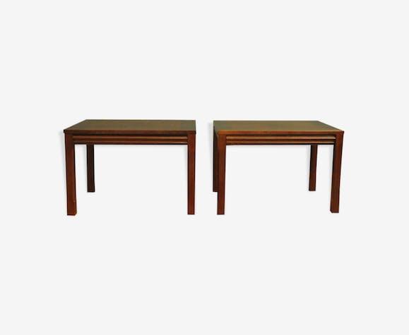 MAHOGANY SIDE TABLE, SET OF 2