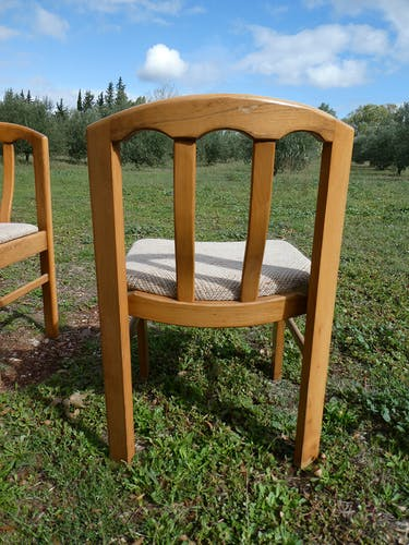 Lot de 6 chaises scandinaves des années 60