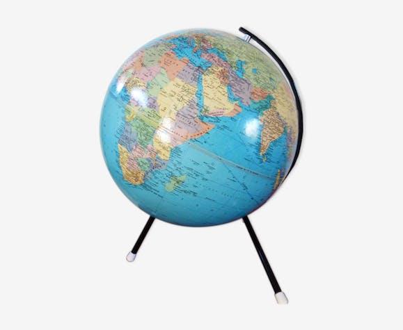 Globe terrrestre tripode taride 1974