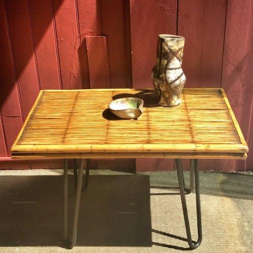 Table en basse en rotin et bambou
