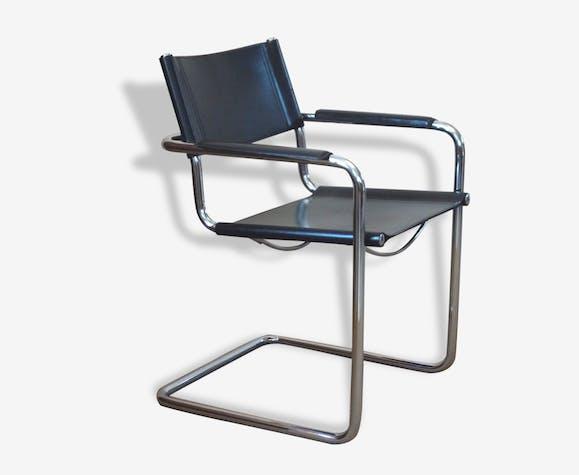 Fauteuil Cuir Matteograssi Mg5 Design Italien Vers 1970 80