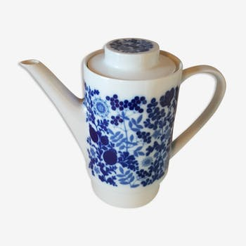 coffee pot porcelain white and blue Germany
