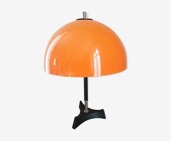 Champignon Italien Y6vfgby7 Lampe Vintagedesign Métal 70 Orange Années rxdCoeB