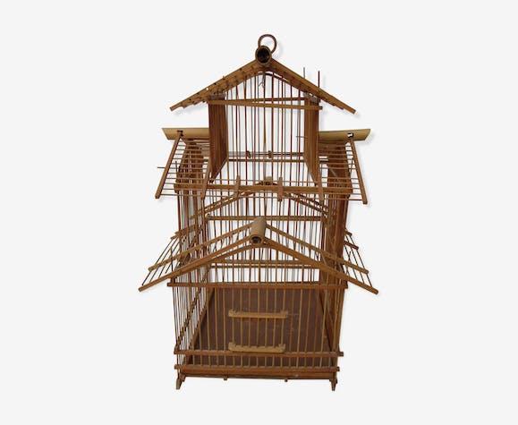 Cage bird bamboo