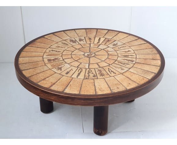 Vintage Roger Capron coffee table