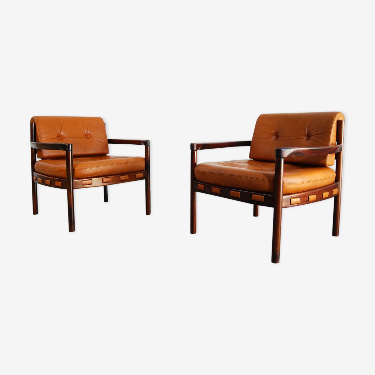 Paire de fauteuils scandinaves par Coja, 1970