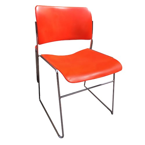 Set of 4 chairs metal of the 1960s
