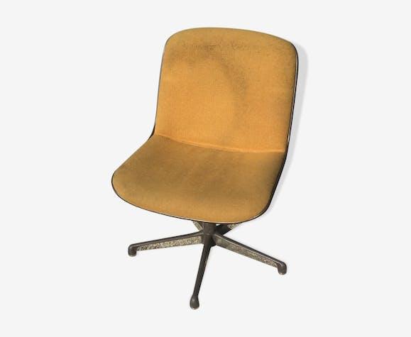 Chaise de bureau vintage jaune tissu jaune vintage xehldq7