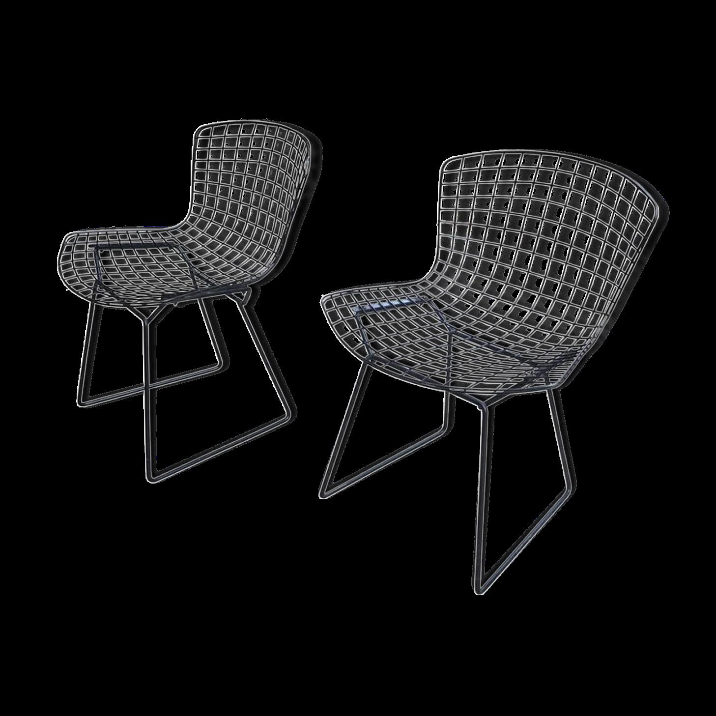 Paire de chaises de Bertoia pour Knoll