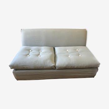Canapé lit Caravane Babu vert d'eau