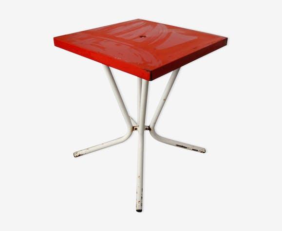 Table de jardin Tolix des années 50 - métal - rouge - industriel ...