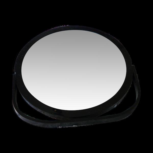 Miroir barbier sur socle double face à bascule pivotant vintage 60 18cm