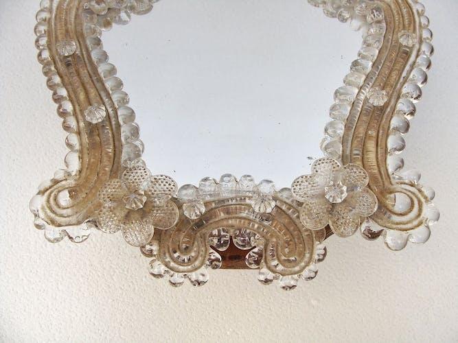 Miroir vénitien murano à poser 21x22cm