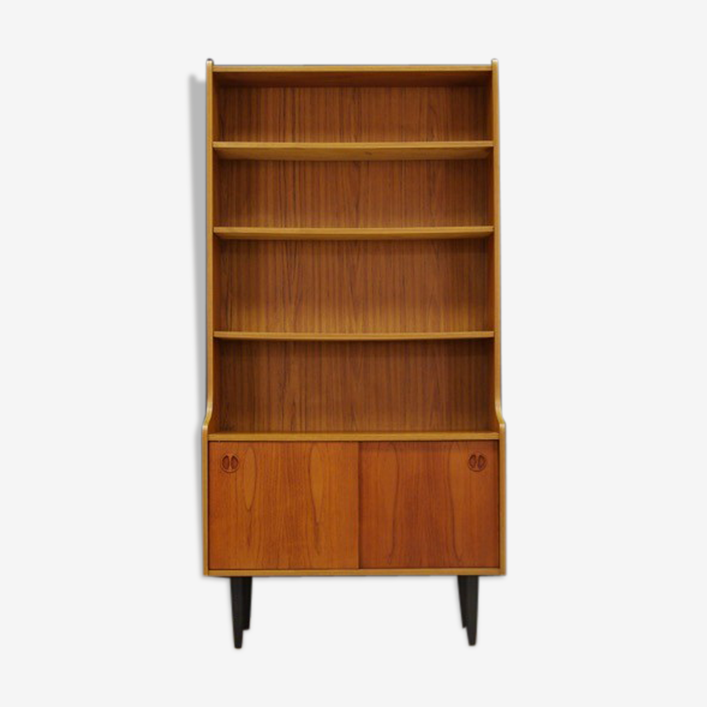 Mid-century retro vintage teak bookcase
