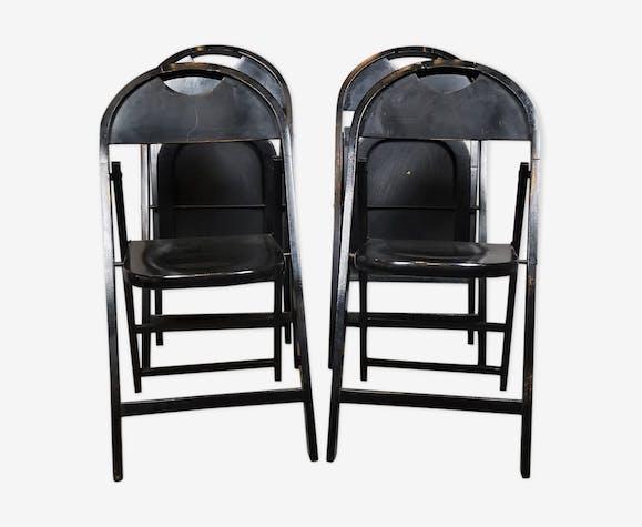 Set de 4 chaises pliantes 1960