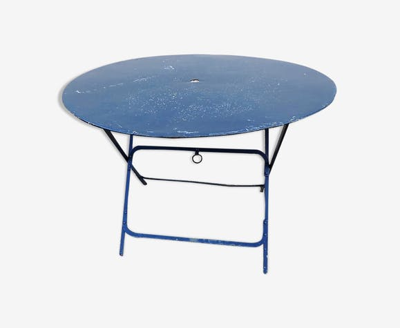 Table ronde ancienne en fer pliante