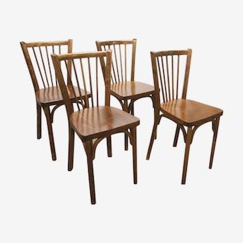 Suite de 4 chaises bistrot Baummann modèle 153