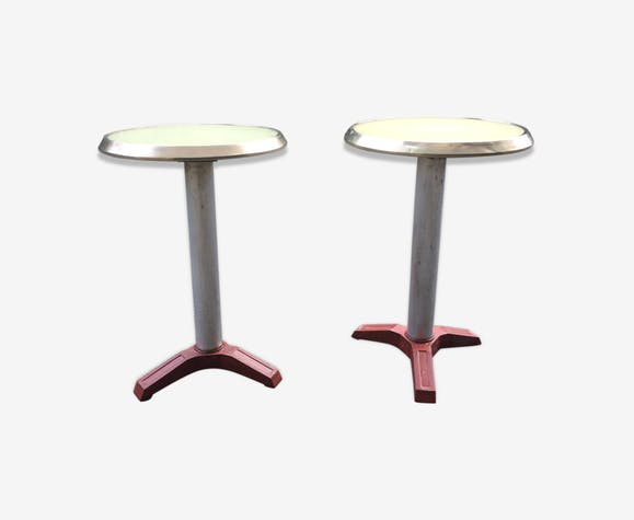 Pair of coffee tables near to 30s Deco bar