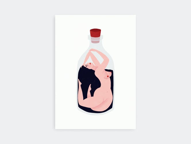 """Illustration """" La femme"""" A4"""