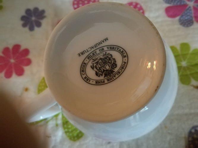 Service a café porcelaine de limoge