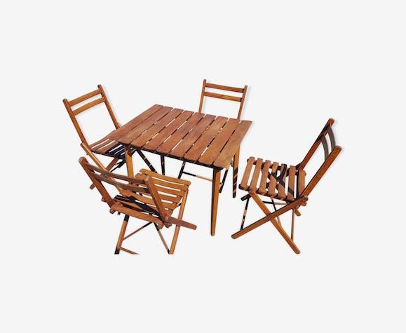 Salon de jardin en bois - bois (Matériau) - marron - art ...