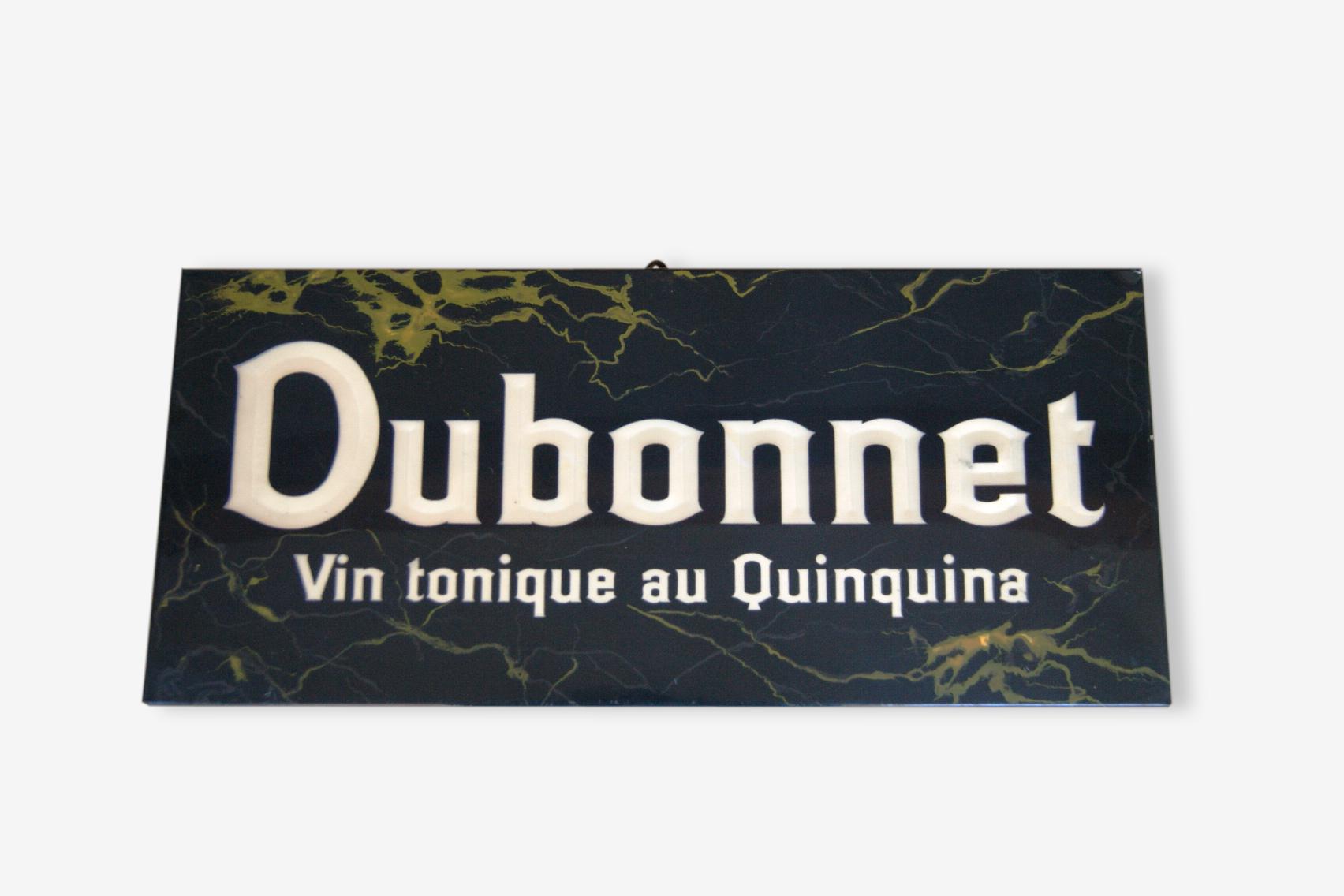 Plaque publicitaire Dubonnet - Vintage