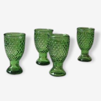 """Verres à liqueur Art Déco """"verts"""" (6)"""