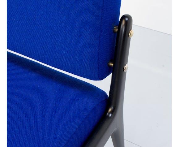 Chaise bleue et noire de Robin Day pour Hille, années 1940