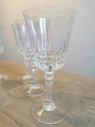 Service de 6 verres à eau vintage en verre ciselé Luminarc