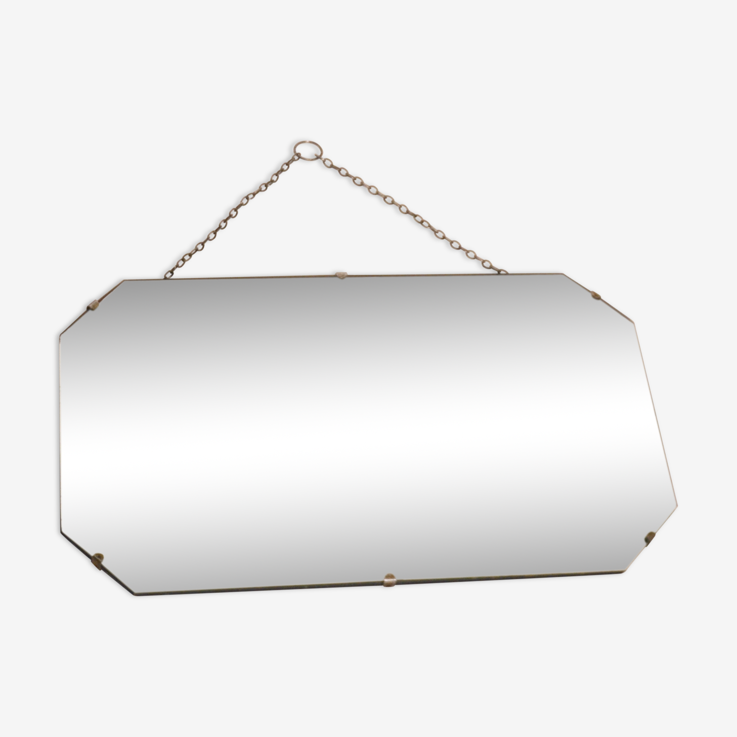 Miroir biseauté années 50 56 x 33 cm