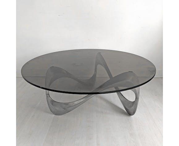 """Table basse """"Snake"""" par Knut Hesterberg pour Ronald Schmitt 1970"""