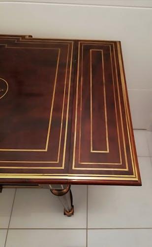 Table à écrire à volets en acajou style Louis XVl