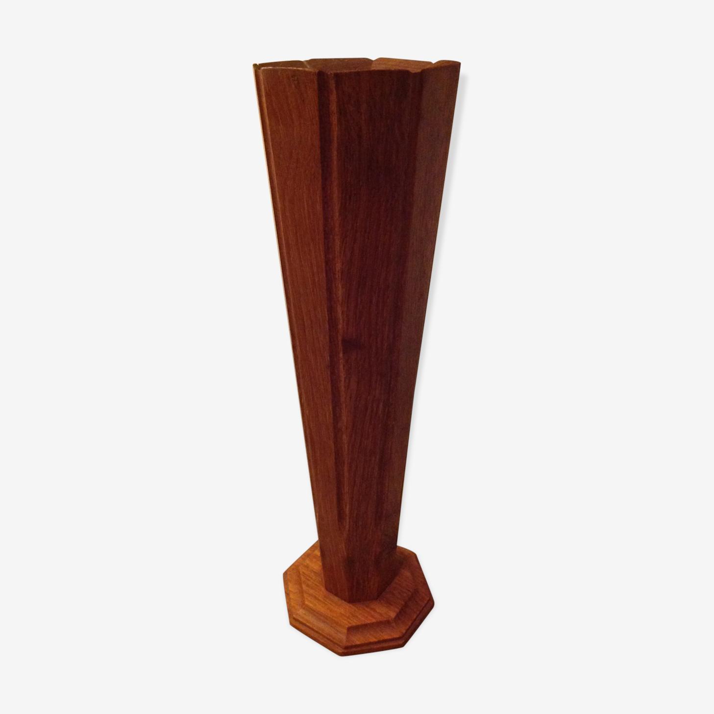 Vase en bois années 60/70