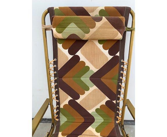 Chaise longue pliante Lafuma 1970