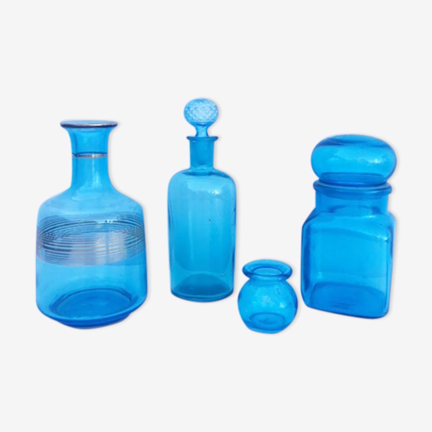 Lot 4 vases bleus