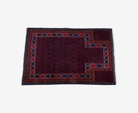 Tapis à franges Gazak afghan à motif géométrique 131x86cm