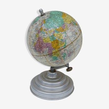 Earth globe Girard Barrere and Thomas vintage 1960