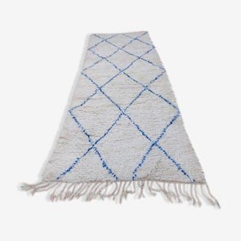 Beni Ouarain carpet hallway 100% wool 285 x 102 cm