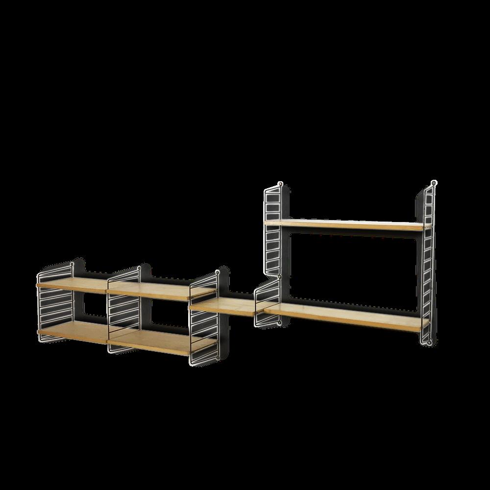 regal string fabulous er er string shelving system shelf regal wandregal nisse string lp fach. Black Bedroom Furniture Sets. Home Design Ideas